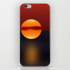 Sun on Red and Blue iPhone & iPod Skin