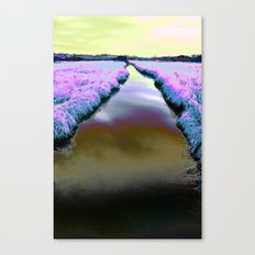 Colourful Scottish Canal Canvas Print