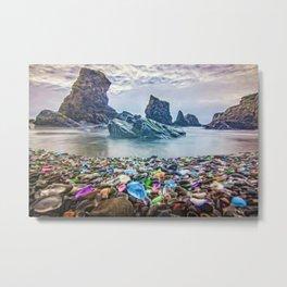 MacKerricher Bottle Sea Glass Beach, California Portrait Metal Print