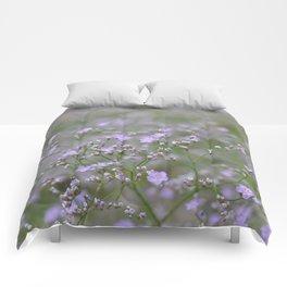 Romantic Lilac Tiny Flower Field Comforters