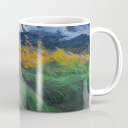 Louis Patru - Landscape - 1895-1905 Wheat Field blowing Wind Storm Clouds Coffee Mug