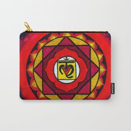 Indian Style Ohm Mandala of Vibrant Color Carry-All Pouch