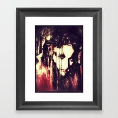 demon lady Framed Art Print