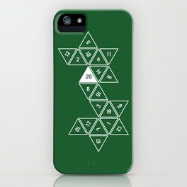 Green Unrolled D20 iPhone Case