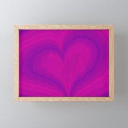 Valentine's Day Purple Violet Heart Pattern Framed Mini Art Print