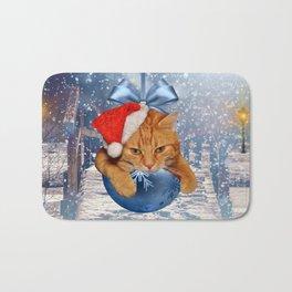 Christmas Cat Bath Mat