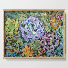 Colorful Succulents, Fine Art Prints, Cactus Wall Art, Original Artwork Design Serving Tray