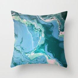 Oceanic Flow Throw Pillow