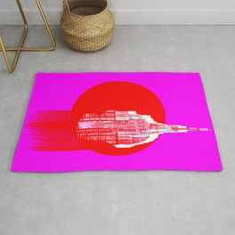 Architecture building red pink Rug