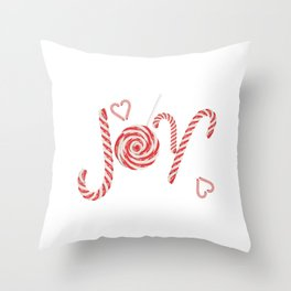Sweet joy candy canes Throw Pillow