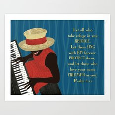Praise and Worship Piano Player Art Print
