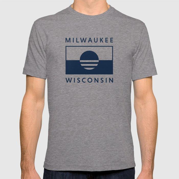 Milwaukee Wisconsin - Navy - People's Flag of Milwaukee T-shirt