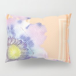 Retro Floral Watercolour Pillow Sham