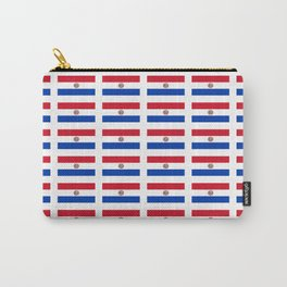 flag of paraguay 2 -paraguyan,asuncion,spanish, south america, latin america,pan flute,coffee,forest Carry-All Pouch