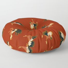 Fighting Roosters Floor Pillow