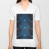 greece V-neck T-shirts featuring Greece Arrow Hues by Diego Tirigall