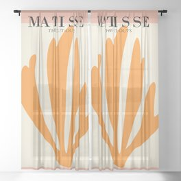 Henri matisse the cut outs contemporary, modern minimal art Sheer Curtain