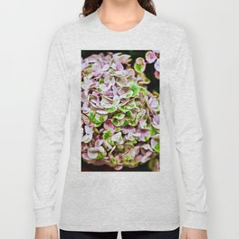 Cluster Of Pink, White & Green Flowers Closeup Long Sleeve T-shirt