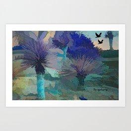 Got The Blues In The Desert  Art Print