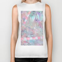 holographic Biker Tanks featuring Crystalline by Jevan Strudwick