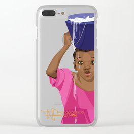 African Village Girl Clear iPhone Case