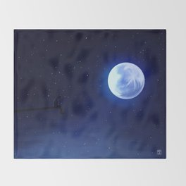 Talking to the Moon Throw Blanket