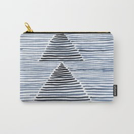 Rosario Watercolor Print in Blue Carry-All Pouch