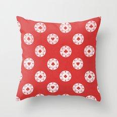 Poker Dots Throw Pillow