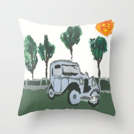 The old car Throw Pillow
