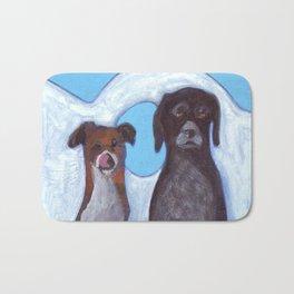 Dogs in Greece Bath Mat
