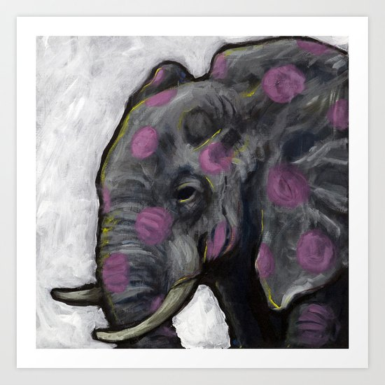 Spotted Elephant Art Print