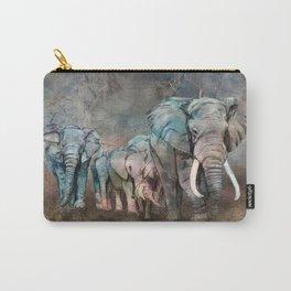 Elephant herd Digital Art Carry-All Pouch