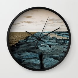 Barnegat Light 2 (jetty) Wall Clock