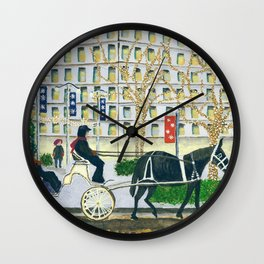Carriage Ride on Woodward Avenue Wall Clock