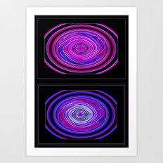 Abstract Modern Circles. Art Print