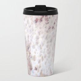 agate, quartz, crystal stone pink beige black Travel Mug