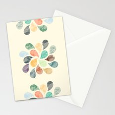 Colorful Water Drops (Watercolor version)  Stationery Cards