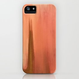 Blush with Gold Abstract iPhone Case