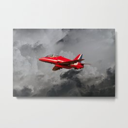 Red Arrows Hawk Metal Print
