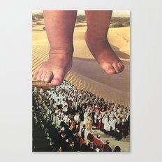 praying to the wrong god (collab with sammy slabbinck) Canvas Print