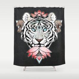 Tiger's lotus Shower Curtain