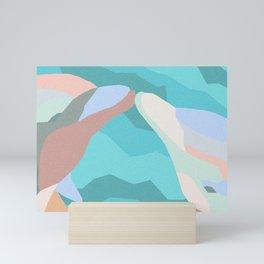 Dolphin Kiss in Grainy Earthtone Mini Art Print