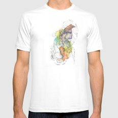 Abstract Portrait Illustration Watercolor Painting  Mens Fitted Tee MEDIUM White
