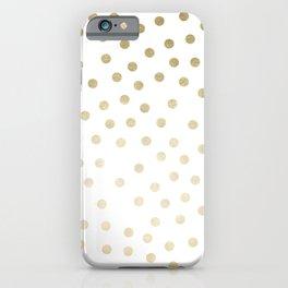 Stylish Gold Polka Dots iPhone Case