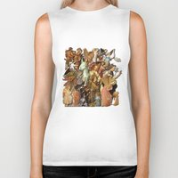 angels Biker Tanks featuring Angels by Vesna Bursich