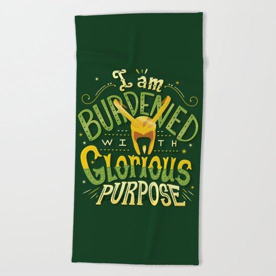 Glorious Purpose Beach Towel