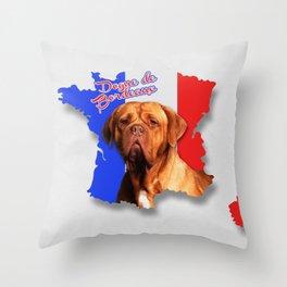 Dogue de Bordeaux - French Mastiff Throw Pillow