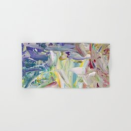 Abstracted Spring Iris Hand & Bath Towel