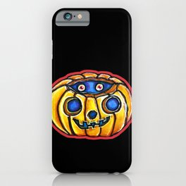 Vintage Halloweenies Peeky Pumpkin iPhone Case