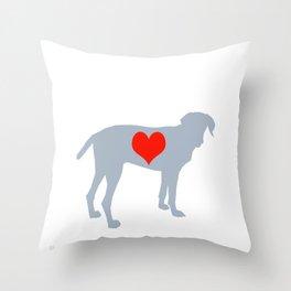 Weim Love Throw Pillow